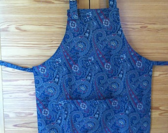 Woman's Paisley apron with adjustable neck