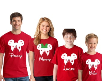 Disney SNOWFLAKE CASTLE Christmas Family Shirts, Disney inspired shirt, Family Vacation shirts, Disney christmas shirts, Family vacation