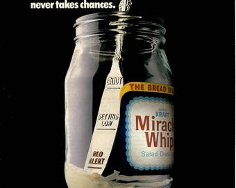 1984 MIracle Whip vintage magazine ad Kitchen wall decor print ad 1705