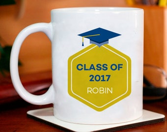 Class of 2017 Personalized Mug for the Newly Graduates With Name