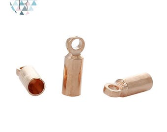 Set of 30 for rose gold plated cord ends