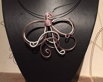 Necklace Bennett Brown pink and white
