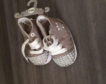 Bébé fille ballerine chaussure chausson  souple création unique fait main