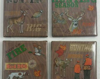 Hunting Coasters/ Hunting Decor/ Coasters/ Man Cave Coasters/ Man Cave Decor/ Father's Day Gift/ Custom Coasters/ Personalized Coasters