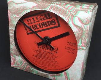 The Cramps - Off The Bone. Clock made from vinyl record.
