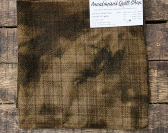 Hand-dyed Wool Fat Quarter -- Brown Bear Plaid -- FQ1771