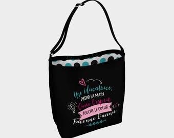 """Little raccoon"" shoulder bag for teachers"