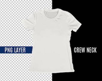 Mock neck shirt etsy for Mock crew neck shirts