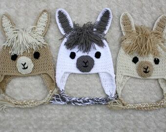 Llama / Alpaca Crochet Hat
