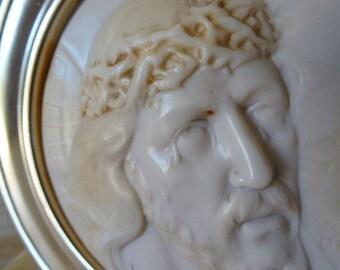 Religious Item, Resin Portrait of Jesus Christ, Home Decor on Marble Plinth 0717018-213