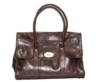Premium Large Brown Leather Shoulder Bag | Exclusive Limited Edition