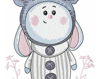 Bunny - Machine Embroidery Design, Embroidery Bunny  5*7, 6*8, 6*10