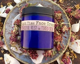 HUGE SALE Face cream, night time cream, lavender, moisturizers, face lotion, natural skin care, vegan, repair, relaxing, spa,