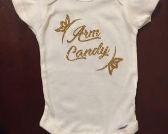 Arm Candy Custom Baby Onesie