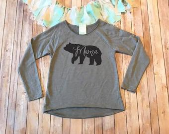 Mama Bear Shirt, Mom Shirt, Gifts for Her, Mom Birthday Gift, Mama Shirt, French Terry Sweatshirt, Gray Shirt, Gray Sweatshirt,Comfy Sweater