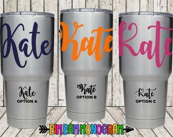 Vinyl Name Decal - Personalized Yeti Decal - Personalized Name Decal - Custom Name Decal - Custom Yeti Decal - Yeti Name Decal - Name Decal