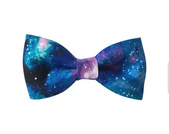Galaxy Dog Collar Bow Tie, Dog Bow Tie, Collar bow tie, bow tie for collar, bow tie for collar, hidden strap,