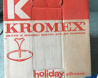 Kromex single tier tidbit tray!! Mid century