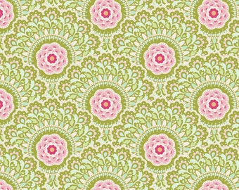 Tilda Fabric Harvest Cabbage Flower Green TD481617