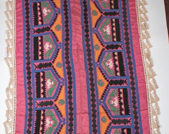 Embroidered Vintage Suzani, Uzbekistan