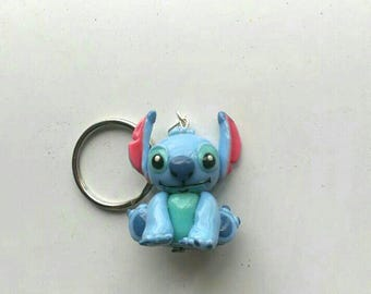 Disney Stitch Polymer Clay Necklace. 100% handmade, Lilo & Stitch