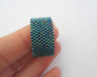 Peyote ring, Miyuki rings, woven ring, women ring, seed bead ring, beaded ring, minimalist ring, girls ring, coworker gift, beaded jewelry