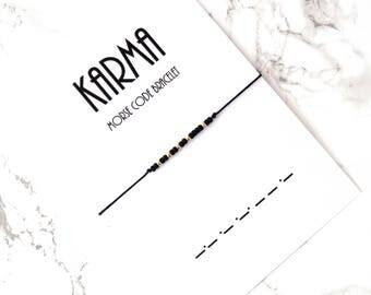 KARMA morse code bracelet, wish karma bracelet, custom personalized karma jewelry, friendship bracelet, bff bracelet, best friends gift