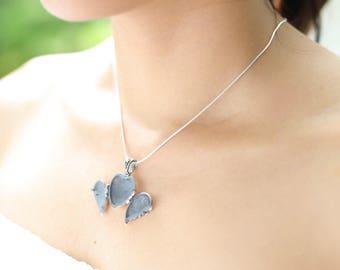 Silver Heart Locket, Heart Charm, Silver Neck Charm, Minimalist Jewelry, Neck Accessories, Silver Chain, Memorablia Pendant, P57