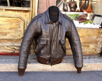 Schott Leather jacket Original brown 684 SM TG L/XL