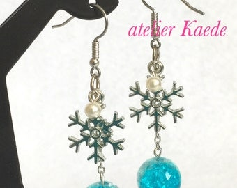 "Earrings ""Snow crystal - winter"""