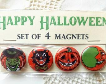 Retro Halloween Magnet Set