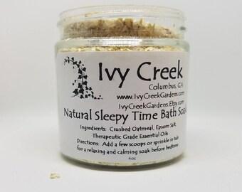 Sleepy Time Bath Soak, Oatmeal Bath Soak, Calming Bath Soak, Bedtime Bath Soak, Soothing, Citrus, Gifts for Mom, Gifts for Her
