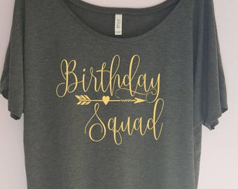 Birthday Squad Shirt - Birthday shirt - Birthday Fun shirt - Birthday Entourage shirt - Birthday Girl Shirt - Birthday Gift Idea
