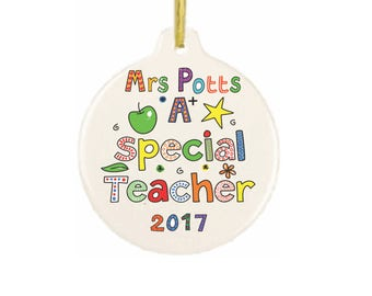 Customized Personalized Teacher Gift Ornament