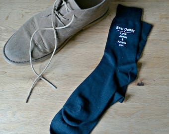 Handmade daddy socks, keepsake socks, daddy keepsake soks, father's day socks, best daddy gift