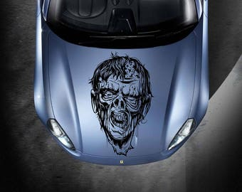 zombie car hood decal Zombie Car Decals Zombie Car Truck zombie Side Body Graphics Decal zombie Sticker for car kikcar32