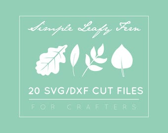 Fern SVG / DXF / EPS Cut Files - Leaves Silhouette Cameo Files - Leaf Clipart Vector Scrapbooking - Cricut Files - Commercial Use