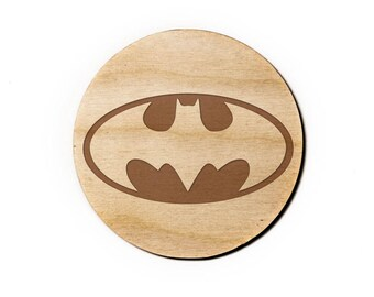 Batman Engraved Birch Coasters