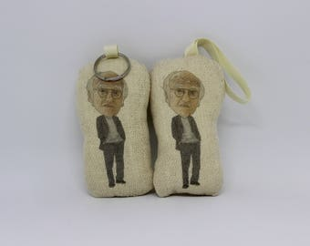 Larry David Inspired Scented Car Air Freshener, Keyring/Keychain or Plush Christmas Bauble Decoration Doll. Curb Your Enthusiasm, Seinfeld