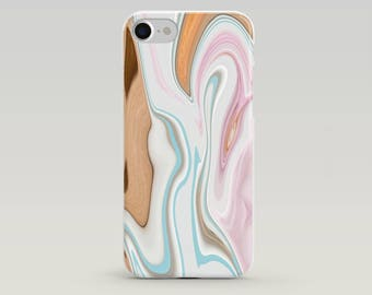 Phone Case iPhone 7 with Modern Art Print, Pastel Colors Phone Case, Modern Art Print, Phone Case Unique, Phone Case iPhone 6,  Abstract Art