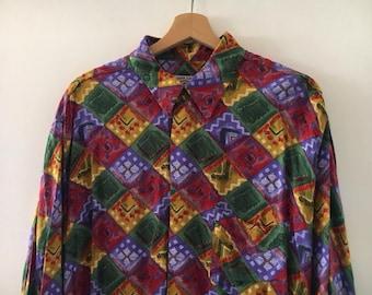 Vintage 90s Shirt Pattern Size XL