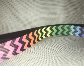 Ombre Chevron Rainbow Headband