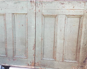 Old Vintage Rustic Door Decor Hutch Doors Antique Wall Decor Late 1800s /  Early 1900s Mantle