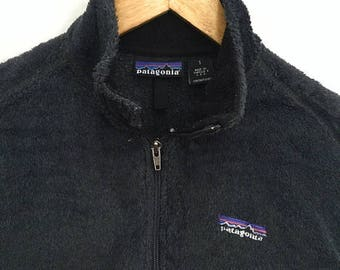 SUMMER SALES Vintage PATAGONIA Fleece Lined Patagonia Jacket Black Unisex Small Made in Usa Spring Jacket Mountain Hiking Outdoor Fashion Vi