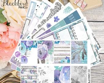 Winter Blooms | Planner Sticker Kit for Erin Condren Vertical