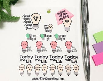 Light Bulb - Brilliant Idea Planner Stickers