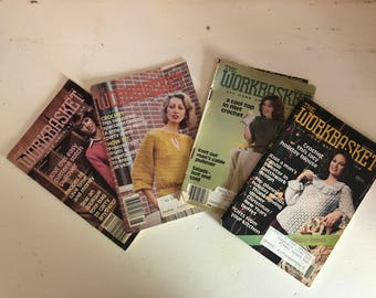 4 Issues of The Workbasket Magazine 1979