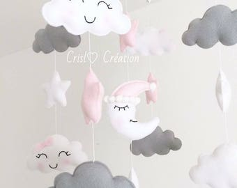 Smiling cloud mobile