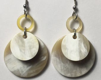 Double disc horn Earrings