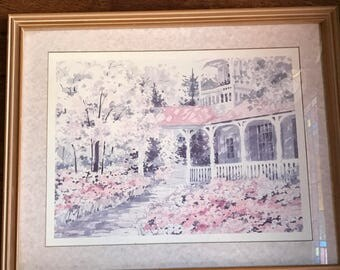 Beautiful Framed and Matted Print House of Lloyd Porch Scene